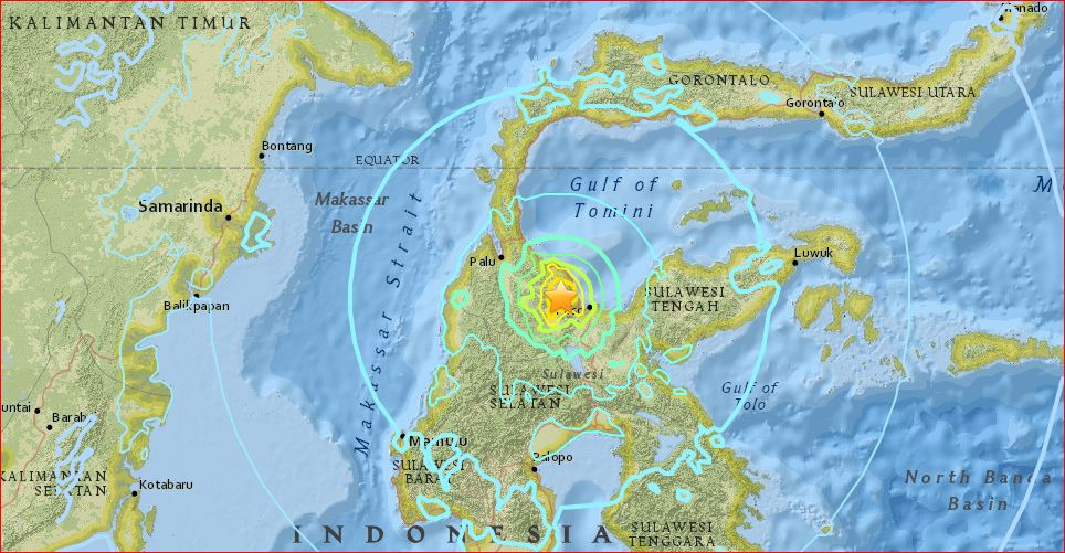 M6.8 earthquake hits sulawesi indonesia may 29 2017