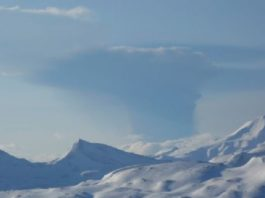 bogoslof volcano eruption may 28 2017, Bogoslof RED/WARNING - Significant explosive eruption started at 14:16 AKDT on May 28 2017, bogoslof volcano eruption may 28 2017 picture, bogoslof volcano eruption may 28 2017 video