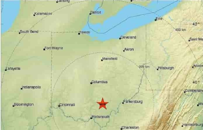 An M3.4 earthquake hit about a mile south of McArthur in Vinton County Ohio May 24 2017, earthquake ohio may 24 2017