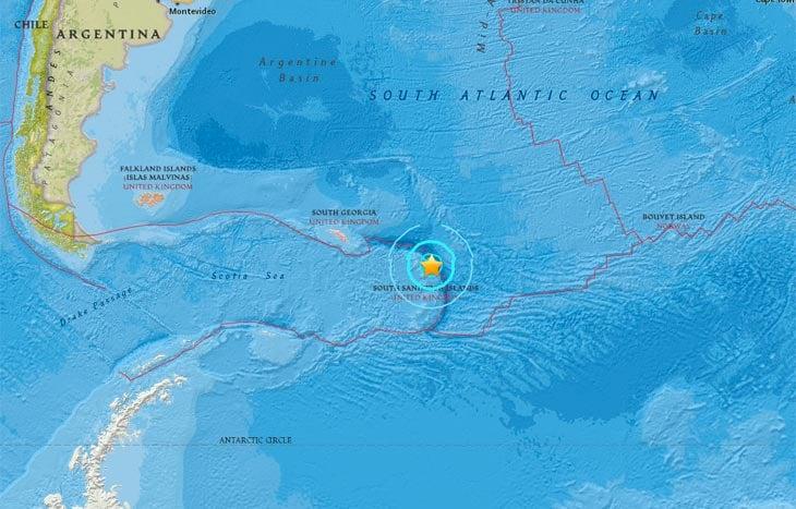 earthquake south sandwich islands, A M6.5 earthquake hit off Visokoi Island, South Georgia and the South Sandwich Islands on May 10 2017