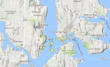 earthquake swarm Bremerton, earthquake swarm Bremerton may 2017, Earthquake swarm continues shaking near Bremerton