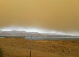 eilat sandstom israel video, eilat sandstom israel pictrues, Biblical sandstorm engulfs Eilat Israel on May 18 2017, eilat sandstom israel