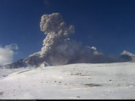 Strong gas-steam activity at Bezymianny volcano