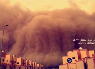 A giant dust storm engulfs Hail Saudi Arabia on May 17 2017, A giant dust storm engulfs Hail Saudi Arabia video, A giant dust storm engulfs Hail Saudi Arabia picture