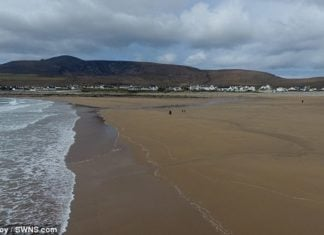 Beach that washed away 33 years ago reappears overnight after freak tide dumps hundreds of tons of sand right back where it used to be, irish beach reappears overnight, irish beach reappears overnight after 33 years video, video irish beach reappears overnight after 33 years
