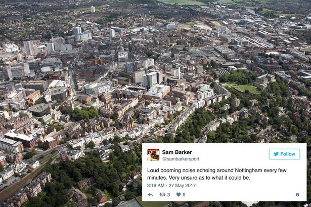 mysterious booms nottingham may 2017, mysterious booms nottingham, mysterious booms nottingham video, mysterious booms nottingham may 27 2017 videoMysterious booms are being heard across Nottingham and nobody knows why