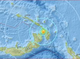 papua new guinea M6.2 earthquake, PGN earthquake may 14 2017