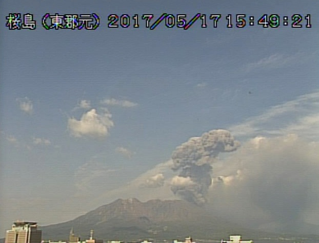 sakurajima eruption may 2017