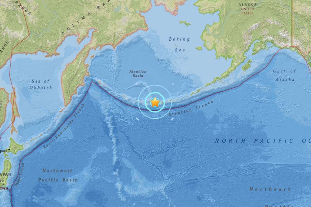 tanaga volcano M6.4 earthquake, A magnitude 6.4 quake struck near Tanaga Volcano, Alaska on May 8 2017, No tsunami warning after the strong M6.4 earthquake near Tanaga volcano in Alaska.