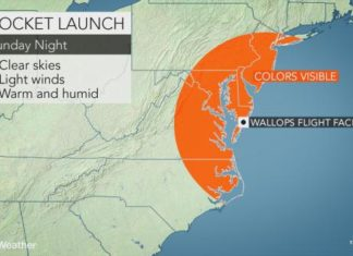 Colorful clouds to dot East Coast skies after NASA rocket launch on Sunday, nasa geoengineering