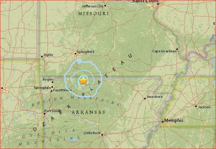 M3.6 earthquakes Arkansas, M3.6 earthquakes Arkansas june 11 2017, 3 earthquakes rattle Arkansas along the New Madrid Seismic Zone on June 11 2017, M3.6 earthquakes rattle Arkansas along the New Madrid Seismic Zone on June 11 2017