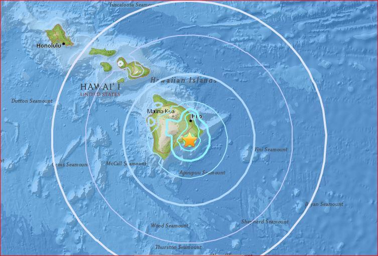M5.3 earthquake hawaii, rare M5.3 earthquake hawaii, M5.3 earthquake hits big island hawaii june 8 2017, rare M5.3 earthquake hit Big Island in Hawaii on June 8 2017