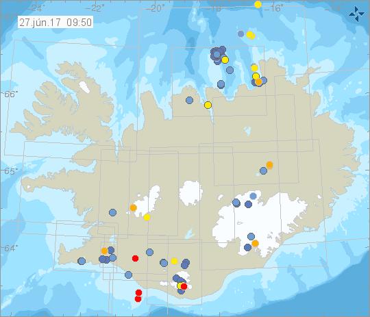 earthquake swarm iceland, earthquake swarm iceland june 2017