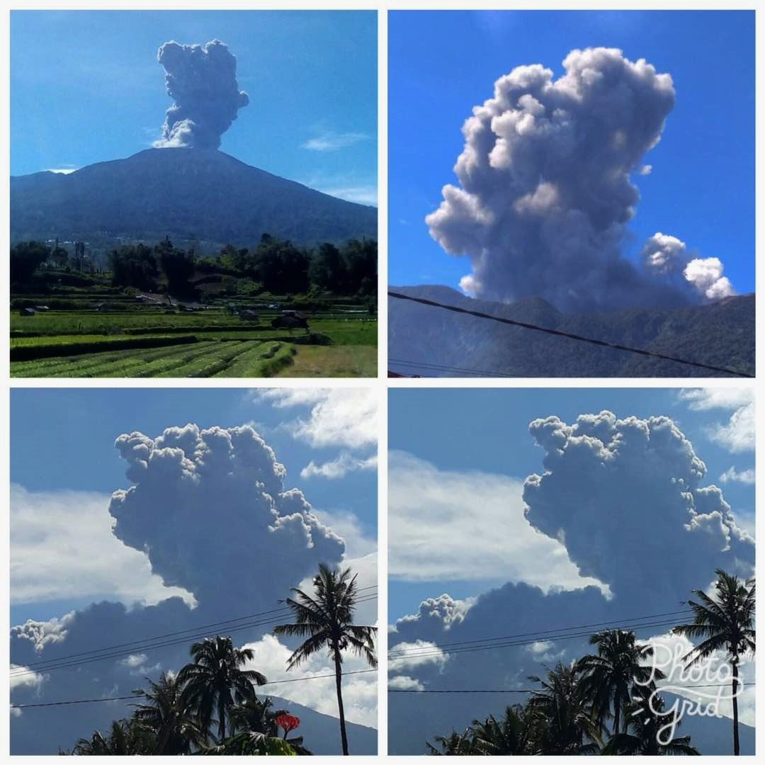 marapi eruption, merapi eruption, marapi eruption june 2017 video, marapi eruption june 2017 photo