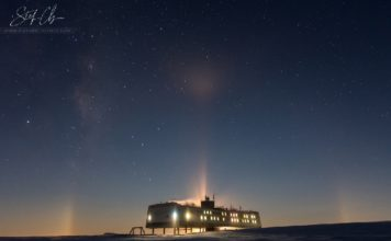 moondog antarctica, A rare moondog illumated the dark sky of Antarctica on June 12 2017, moondog antarctica photo, Stefan Christmann
