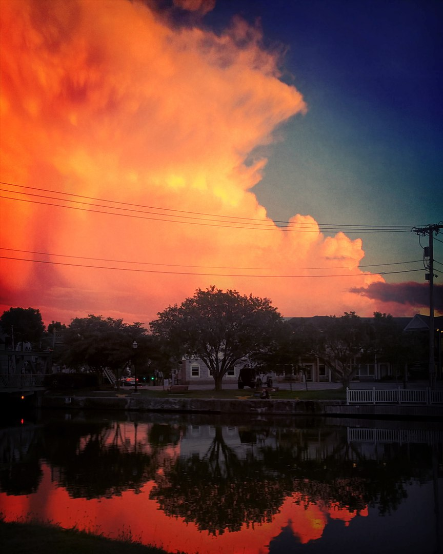 sky on fire rochester new york, Bloody sunset over Rochester, New York on June 25 2017, fiery sunset rochester, rochester storm sunset june 2017, sky of fire rochester pictures