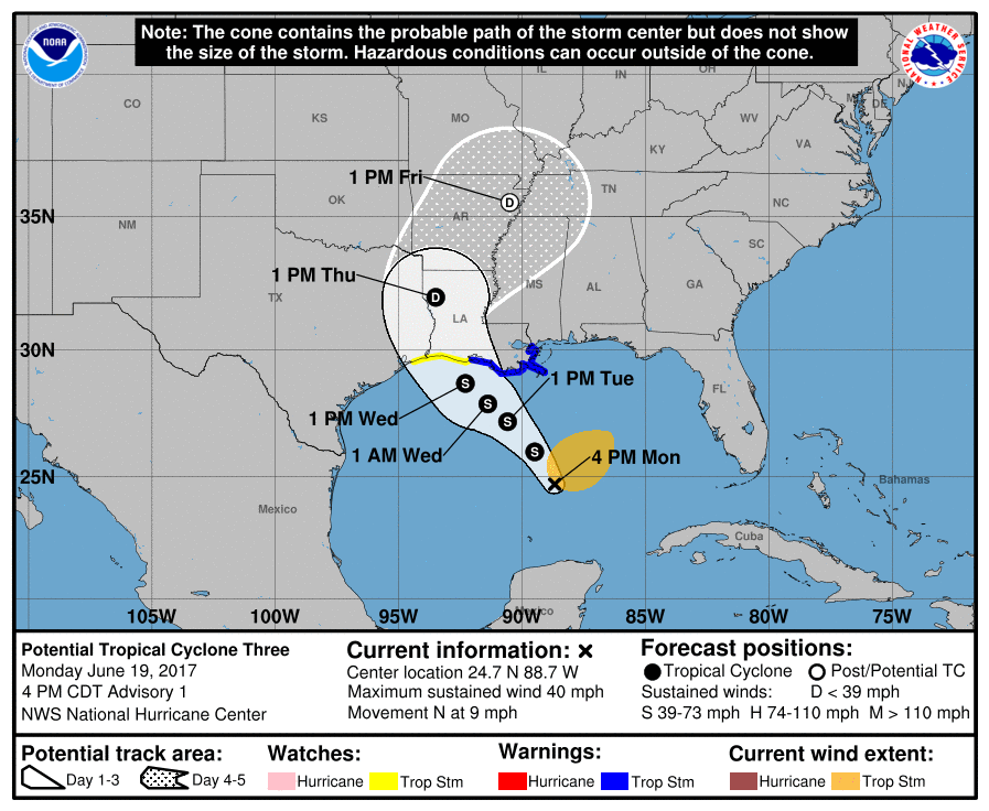tropical cyclone three, tropical cyclone three map, tropical cyclone three june 2017, tropical cyclone three louisiana, tropical cyclone three louisiana track map
