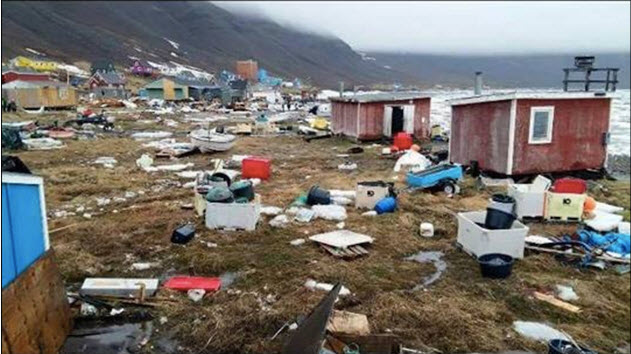 tsunami greenland, tsunami greenland video, tsunami greenland picture, tsunami greenland june 2017, Giant landslide causes TSUNAMI in Atlantic Ocean flooding villages and destroying homes on June 17 2017