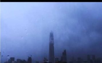 typhoon merbok, typhoon merbok video, typhoon merbok shenzhen video, Typhoon Merbok engulfed Shenzhen on June 13 2017