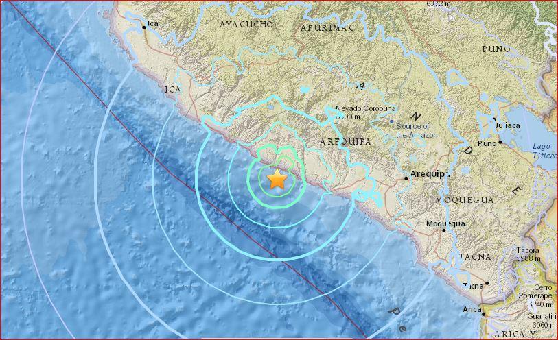M6.4 earthquake Peru july 18 2017, M6.4 earthquake hits off Peru on July 18 2017