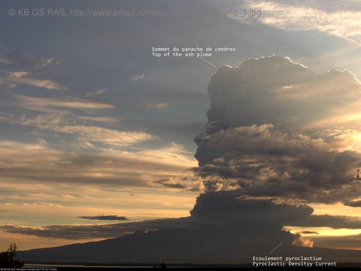 Sheveluch eruption kamchatka july 24 2017, Sheveluch eruption kamchatka july 24 2017 video