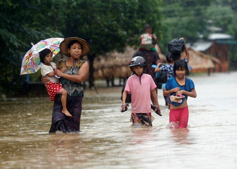 burma floods july 2017, burma floods temple july 2017 video, Severe floods in Burma in July 2017, Severe floods in Burma in July 2017 video