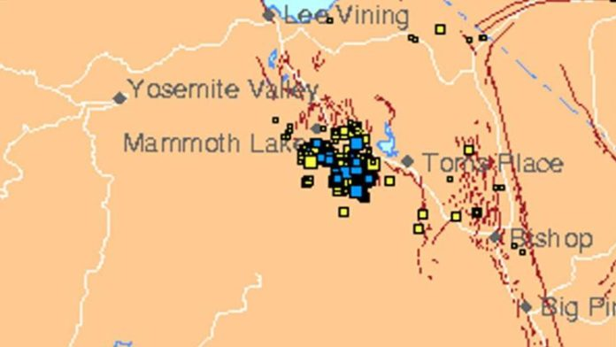 earthquake swarm mammoth lakes july 2017, earthquake swarm mammoth lakes july 2017video, Hundreds of small earthquakes have hit Mammoth Lakes in California in recent days