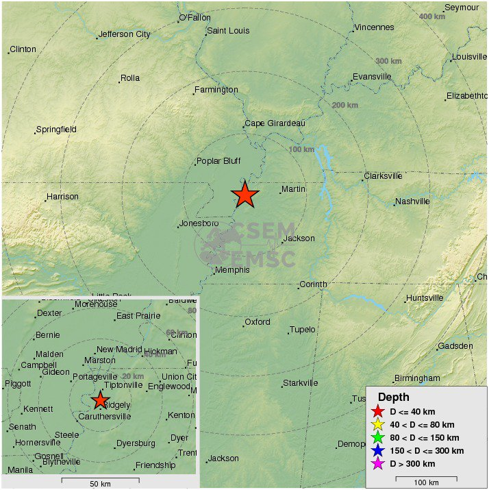 earthquake tennessee july 31 2017, A M3.0 earthquake hit Ridgely, Tennessee on July 31 2017