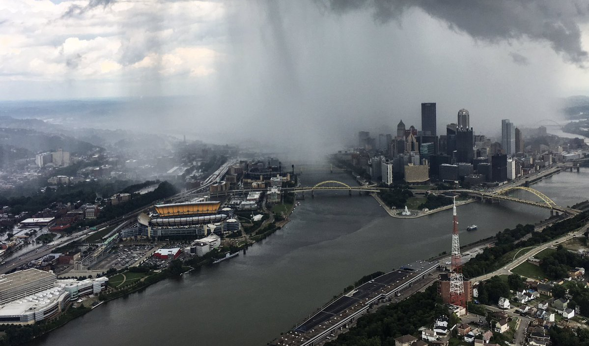 microburst pittsburgh, microburst pittsburgh pictures, incredible microburst hits downtown Pittsburgh on July 8 2017