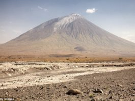 mountain of god volcano eruption tanzania, Massive eruption of the 'Mountain of God' volcano in Tanzania is IMMINENT - and it could wipe out key sites in human history, mountain of god volcano eruption tanzania photo, mountain of god volcano eruption tanzania destroys anthropological sites