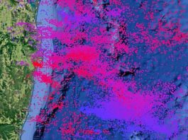 5100 lightning per hour in northern rivers, lightning anomaly northern rivers, lightning strike northern rivers, Lightning strike anomal in Northern Rivers: More than 5100 lightnings per hour were recorded during a thunderstorm along the coast of Australia on August 24