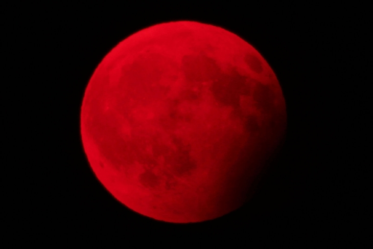 Blood moon and partial lunar eclipse on August 7 2017 ...