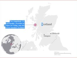 Biggest earthquake in 30 years hits Scotland on August 4 2017, Biggest earthquake in 30 years hits Scotland on August 4 2017 map, Biggest earthquake in 30 years hits western Scottish Highlands