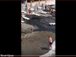 sewage geyser beach russia video, sewage geyser beach russia video august 2017