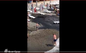 sewage geyser beach russia video, sewage geyser beach russia video august 2017