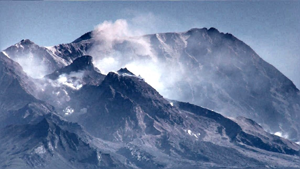 shevelush volcano dome destruction, shevelush volcano dome destruction picture
