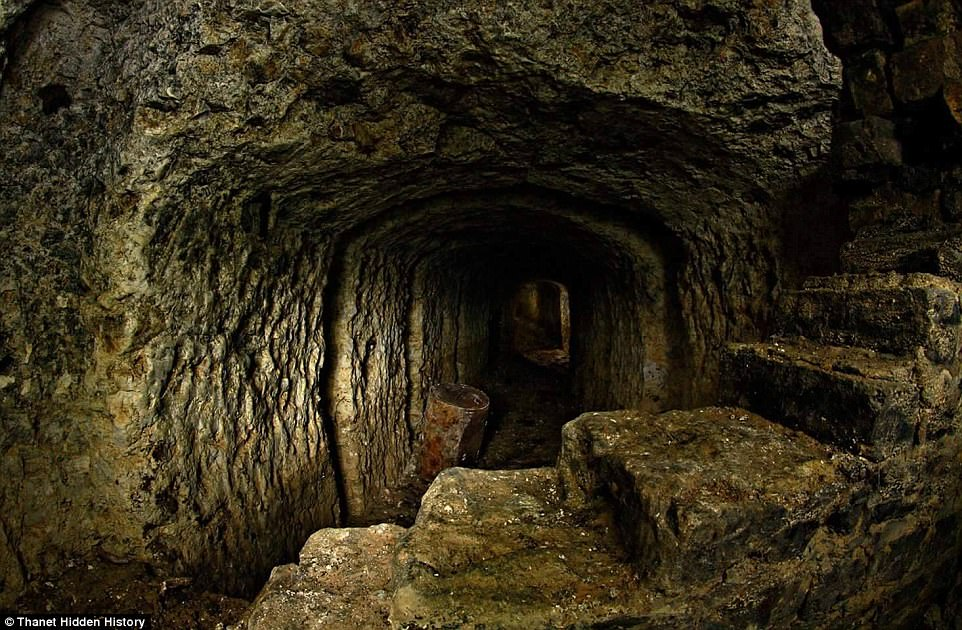 sinkhole Kent Primark WWI tunnels, sinkhole Kent Primark WWI tunnels pictures, Sinkhole that opened up beneath a Kent branch of Primark reveals hidden network of WWI tunnels that have been buried for decades