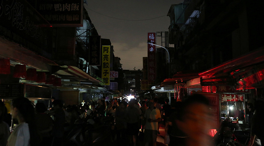 taiwan power outage, taiwan power outage august 2017