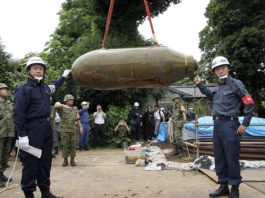 unexploded bomb fukushima august 2017, A WWII bomb was found at Fukushima Nuclear Plant Site in August 2017