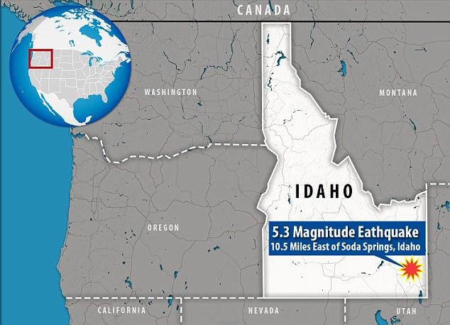 M5.3 earthquake idaho, M5.3 earthquake idaho september 2017