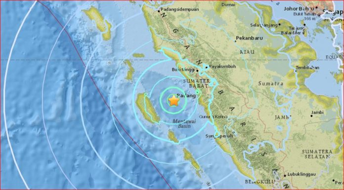 M 6.3 earthquake hits off Sumatra Indonesia on August 31 2017