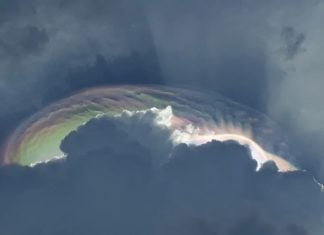 Iridescent cloud over Fonseca Colombia, anomalous iridescent cloud colombia, Iridescent cloud over Fonseca Colombia pictures, Iridescent cloud over Fonseca Colombia video