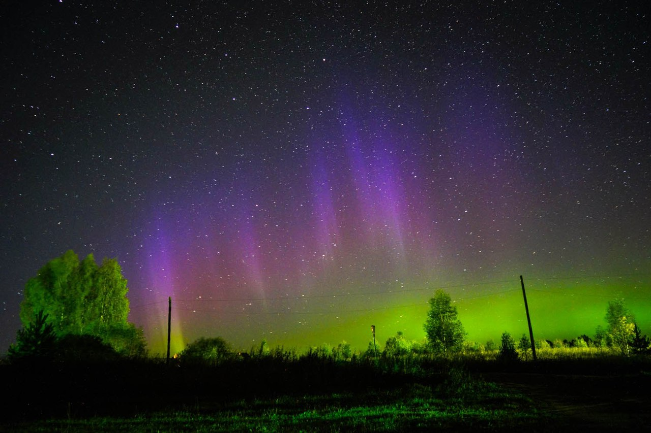 Blue purple and green aurora on September 16 2017, northern lights september 2017, amazing northern lights september 2017