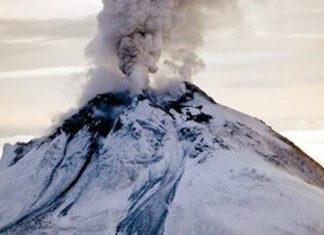 The Cleveland volcano in Alaska erupted on September 25 2017, cleveland volcano eruption september 25 2017, cleveland volcano eruption september 25 photo, cleveland volcano eruption september 25 video