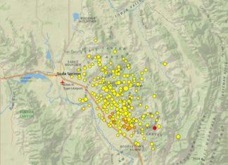 soda springs earthquake swarm, idaho earthquake swarm 2017, earthquake swarm idaho, earthquake swarm soda springs idaho