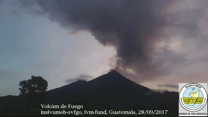 fuego eruption guatemala, Fuego volcano eruption on September 28 2017 in Guatemala pictures, Fuego volcano eruption on September 28 2017 in Guatemala video