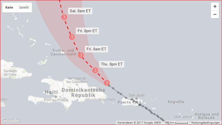 hurricane maria destruction path