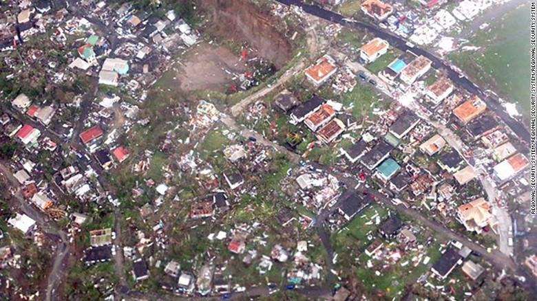 hurricane maria dominica destruction from flyover