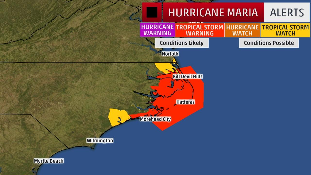 Hurricane maria north Carolina, Hurricane maria north Carolina video, Hurricane maria north Carolina pictures september 25 2017, Tropical storm wrning issued for North Carolina before Hurricane Maria