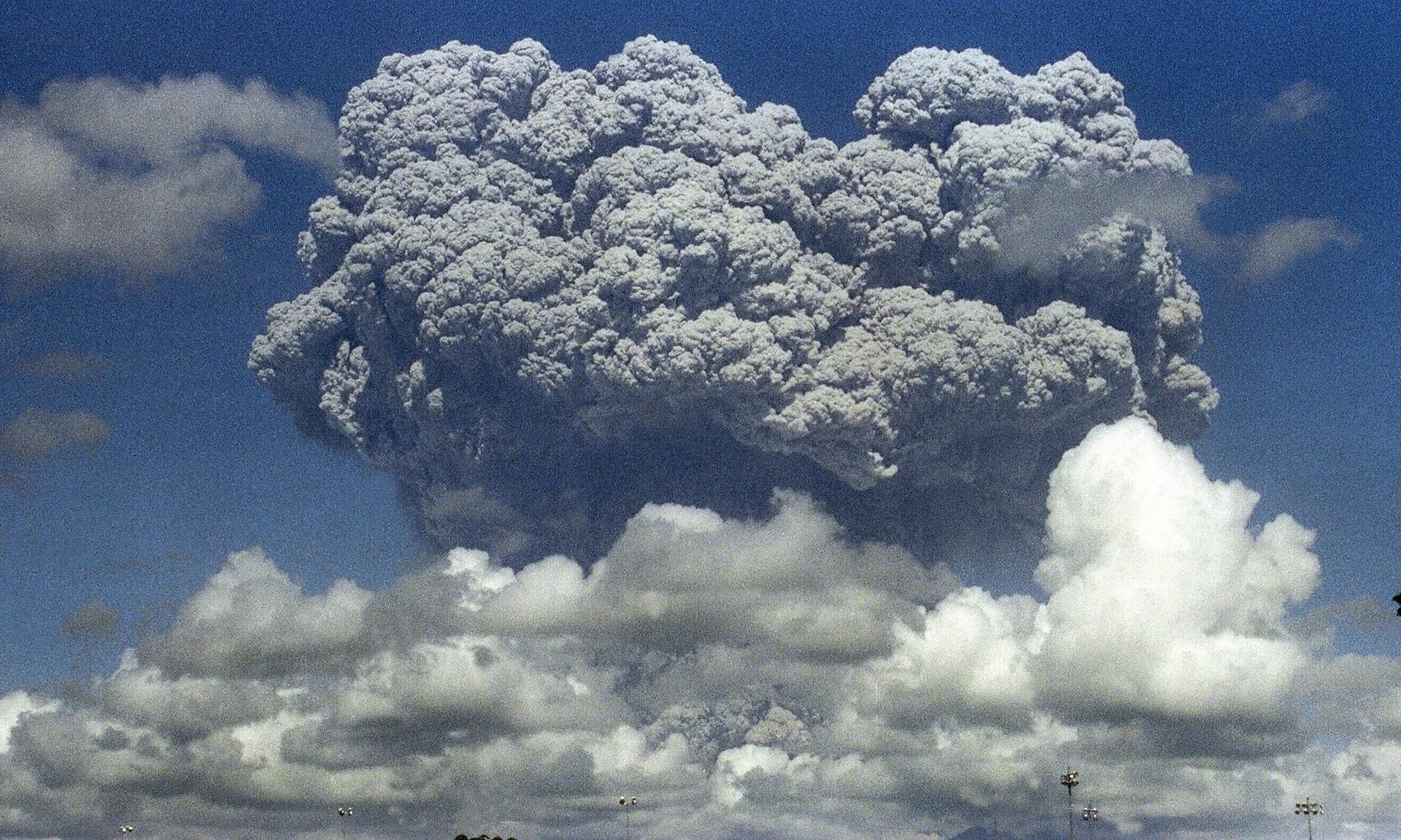 pinatubo eruption, pinatubo eruption typhoon